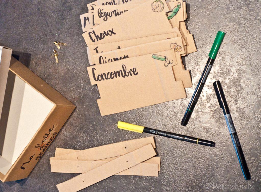 Boîte à graines: matériel nécessaire